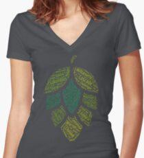 Hop Varietals Women's Fitted V-Neck T-Shirt