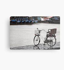 Hoi An bicycle in rain Metal Print
