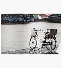 Hoi An bicycle in rain Poster