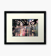 Hoi An lanterns and reflections on bridge Framed Print