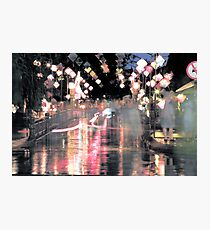 Hoi An lanterns and reflections on bridge Photographic Print
