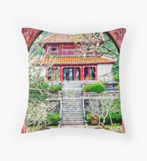 Temple through archway in Hue Throw Pillow