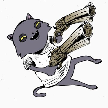 Gun Cat by pyeah