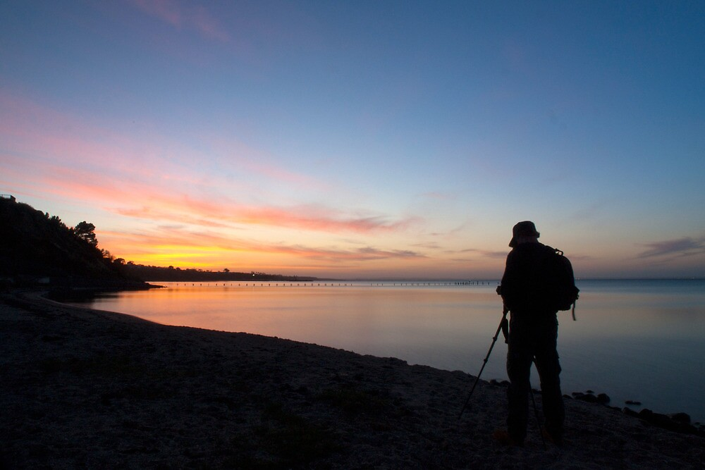 Photographing the Sunset by John Sharp