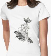 Heart Flutter Womens Fitted T-Shirt