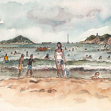 Shek O Beach in Summer by adolfux