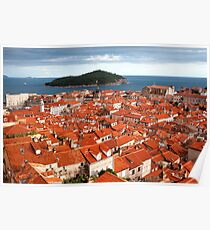 Dubrovnik and Lokrum Island Poster