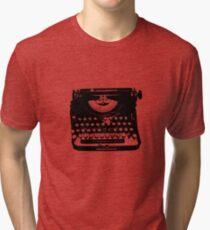 Jack Kerouac Typewriter Tri-blend T-Shirt