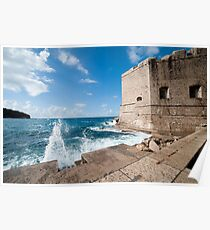Dubrovnik Pier and Fortification Poster