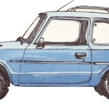 Small Blue Car de charlo19