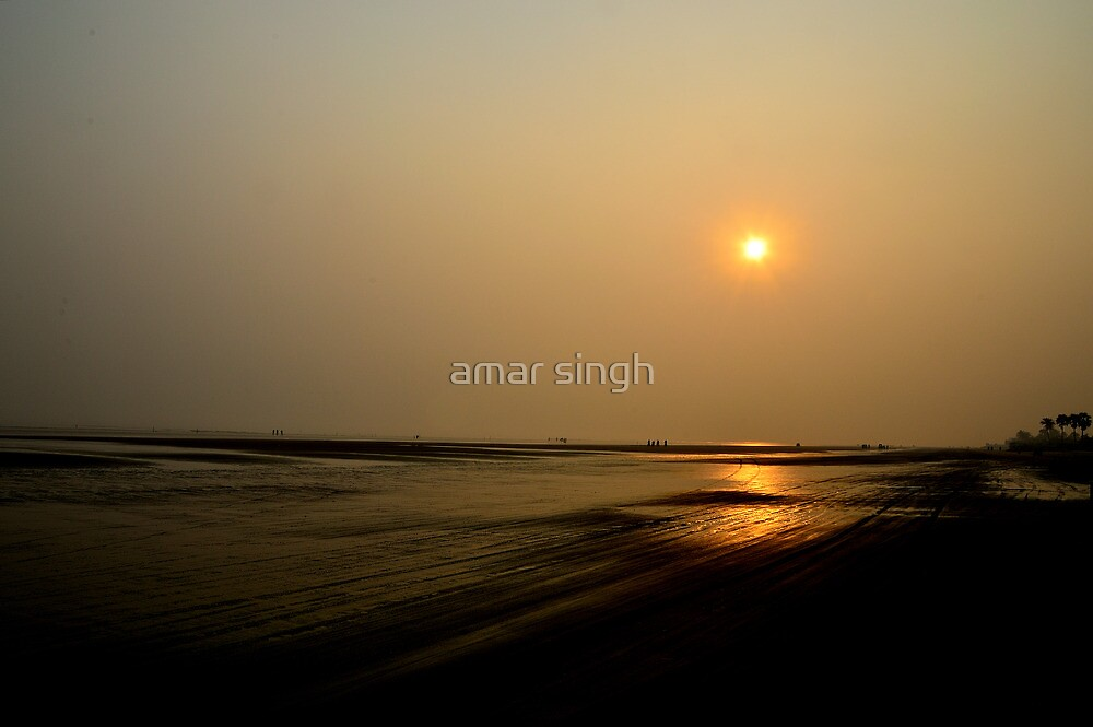 Golden beach by amar singh