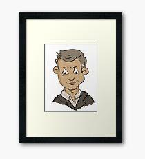 Sherlock Lestrade Cartoon Framed Print