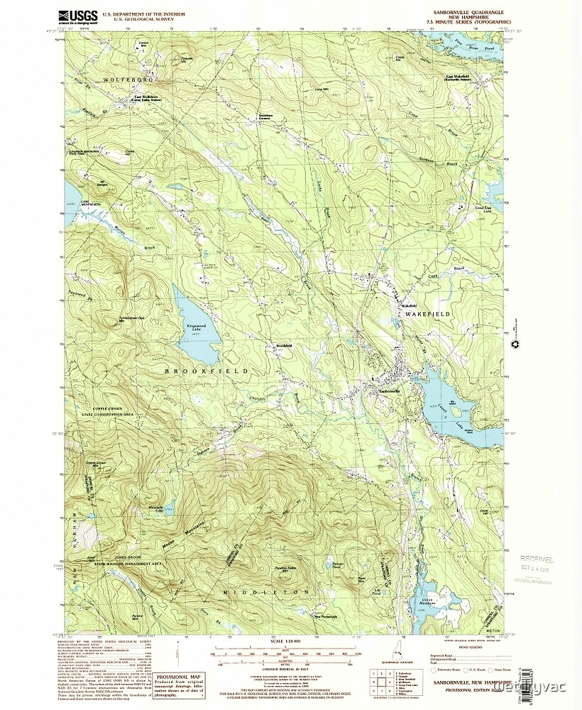 USGS TOPO Map New Hampshire NH Sanbornville 329775 2000 24000 by wetdryvac