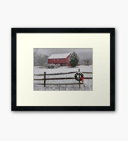 Clarks Valley Christmas Framed Print