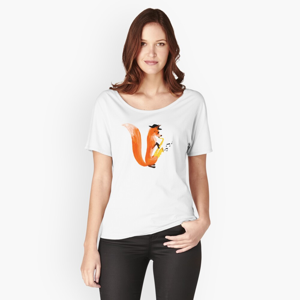 Jazzy Fox Relaxed Fit T-Shirt
