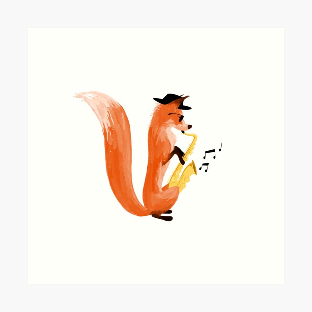 Jazzy Fox Art Print