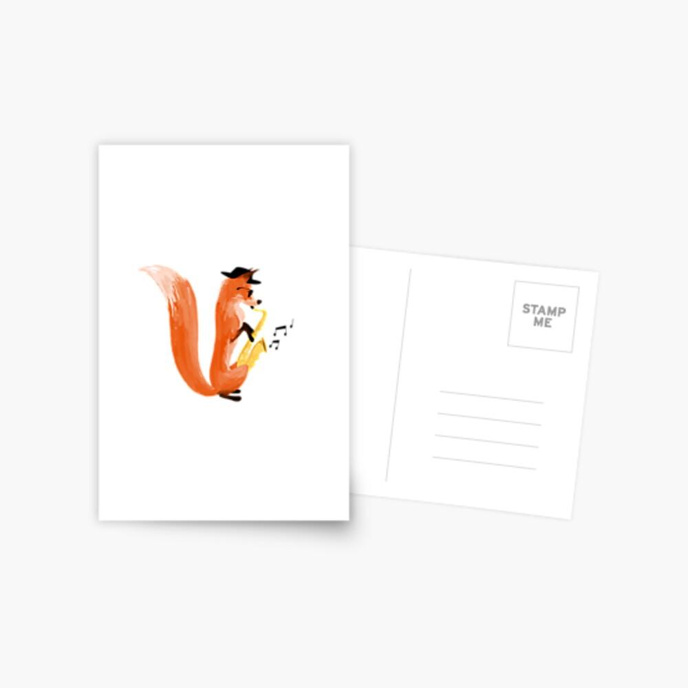 Jazzy Fox Postcard