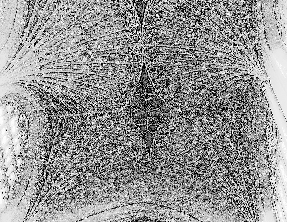 Ceiling detail in Black & White by bubblehex08
