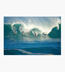 Winter Waves Waimea Bay Hawaii Photographic Print