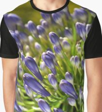 Close With Agapanthus Flower Graphic T-Shirt