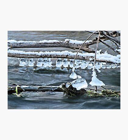 Ice Bells over Rock Creek, Twin Falls, Idaho, USA Photographic Print