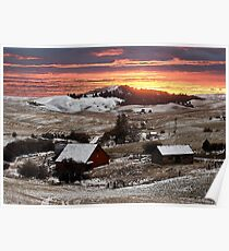 Barn Rural Farm Life Scene Poster Print And Card Poster