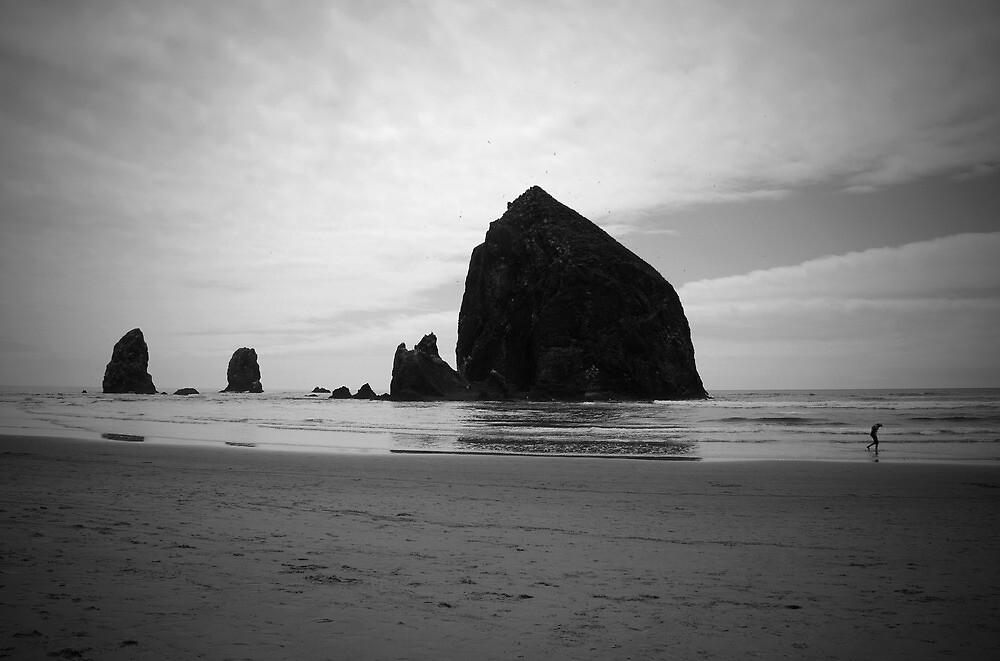 a walk along cannon beach by davidalf