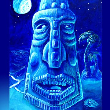 Moonlit Moai Iphone Case by rawjawbone