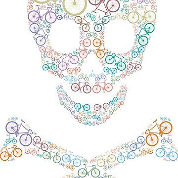 Bike skull multicolored by karlos