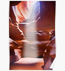Sun Beam in Slot Canyon Poster