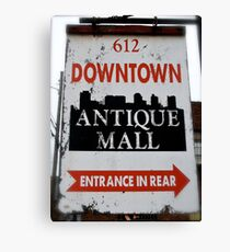 Downtown Nashville Antique Mall Canvas Print