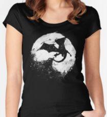 Mitternacht Desolation Tailliertes Rundhals-Shirt