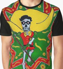 Robin Day of the Dead Graphic T-Shirt