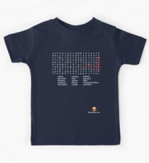 Coffee Monkey - Word Search (updated) Kids Tee