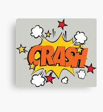COMIC BOOK: CRASH! Canvas Print
