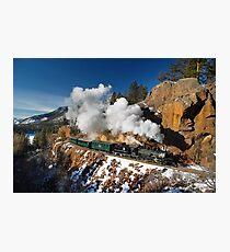 Winter San Juan Passenger Train Photographic Print