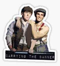 JC Carrying the Banner  Sticker