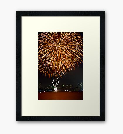 Fantastic Orange Supernova | New Years Eve | Sydney Harbour Framed Print