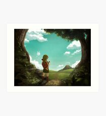 [The Legend of Zelda: Ocarina of Time] The Outset of a Journey Art Print