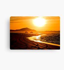 Beach highway sunset (Moreton Island, Australia) Canvas Print