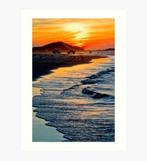 Yellow Patch sunset (Moreton Island, Australia) Art Print