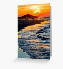 Yellow Patch sunset (Moreton Island, Australia) Greeting Card