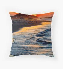 Yellow Patch sunset (Moreton Island, Australia) Throw Pillow