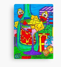 Champagne Quackers Canvas Print
