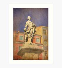 Vénus e Adónis. Chafariz das Janelas Verdes. Art Print