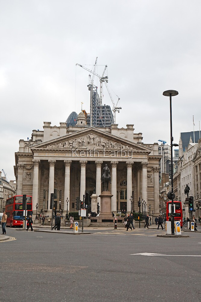 The Royal Exchange in London by Keith Larby