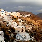 Sunset over Oia by Paige