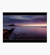 St Mary's Lighthouse Photographic Print