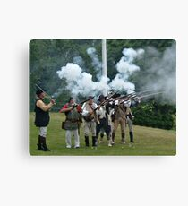Musket Fire to Celebrate Independence Day Canvas Print