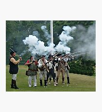 Musket Fire to Celebrate Independence Day Photographic Print